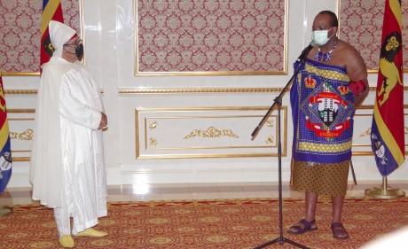 Youssef Amrani présente ses lettres de créance au Roi d'Eswatini
