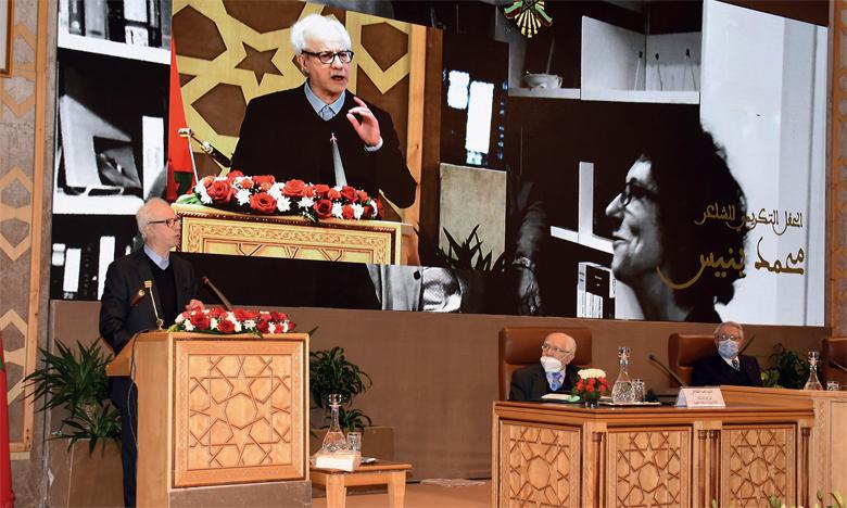 Le poète Mohamed Bennis.                                                                 Phs. Kartouch