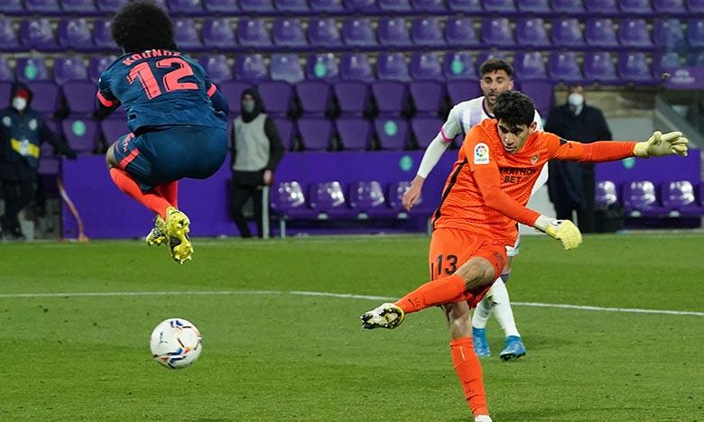 L'international marocain, qui a participé à la dernière attaque des visiteurs, a marqué l'unique but des andalous d'un joli tir donnant à FC Séville un point précieux. Ph : AFP