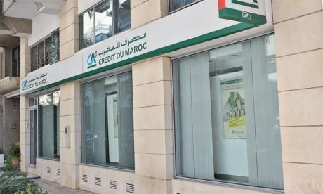 Crédit du Maroc : Le produit net bancaire cède 0,9% en 2020