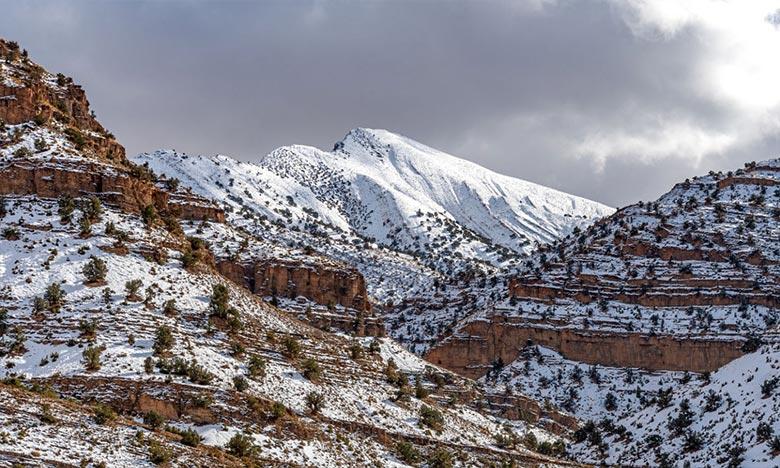 La DGM prévoit pour la journée de ce vendredi, de chutes de neige sur le Haut Atlas au-delà de 1.700 m avec quelques flocons de neige sur le Moyen Atlas. Ph : DR