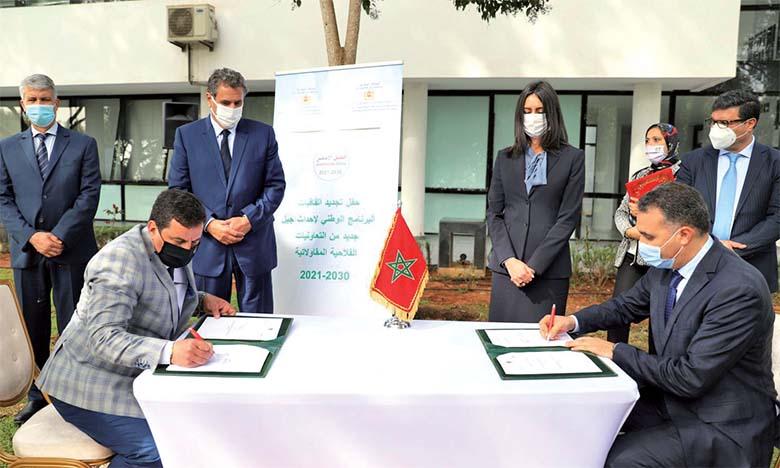 Signature de conventions relatives au programme national de constitution de coopératives agricoles nouvelle génération.