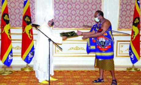 Le Roi Mswati III exprime son estime et sa haute reconnaissance à S.M. le Roi Mohammed VI pour le soutien continu du Maroc à l'Eswatini