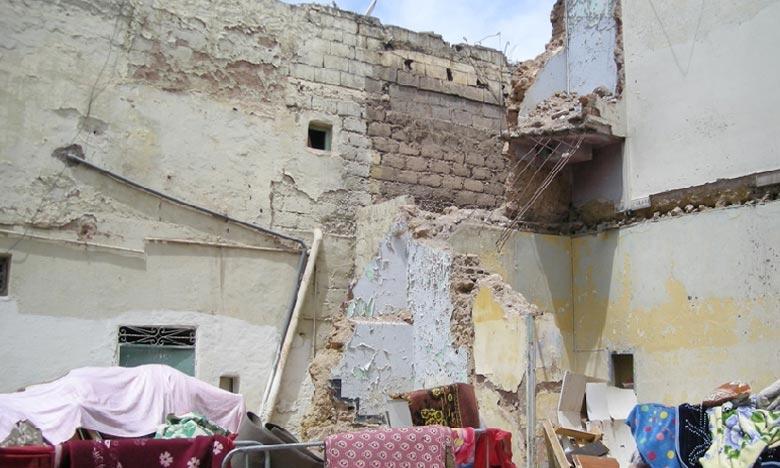 Le drame a eu lieu lorsqu'une maison ancienne de la Médina de Béni Mellal occupée par une femme de 63 ans et son fils, s'est partiellement effondrée. Ph : Archives