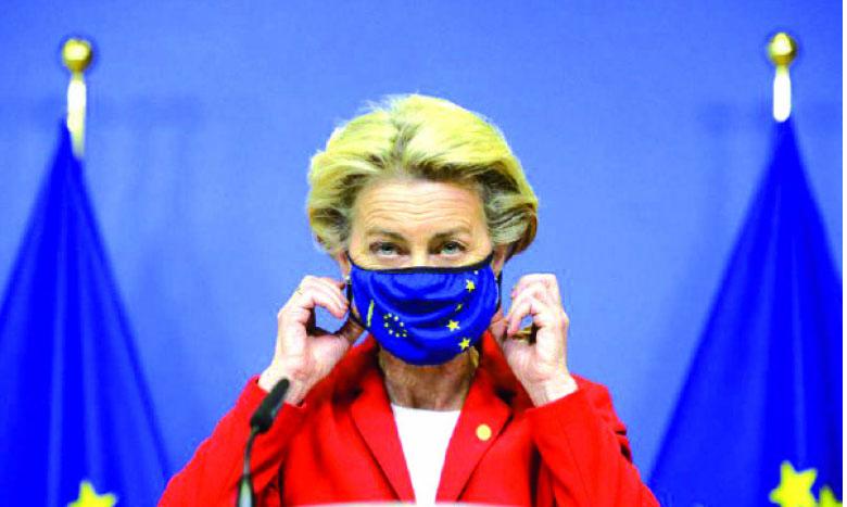 La présidente de la Commission, Ursula von der Leyen, a déjà menacé de bloquer les exportations du laboratoire AstraZeneca si l'UE ne recevait pas d'abord les approvisionnements promis. Ph. DR