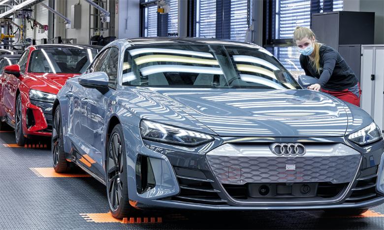 Rien qu'en 2021, Audi a doublé le nombre de modèles entièrement électriques dans sa gamme.