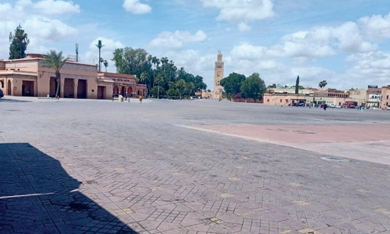 Comme dans le reste du monde, le tourisme marocain a profondément pâti de la pandémie  de la Covid-19. Ici, Marrakech désolément vide.