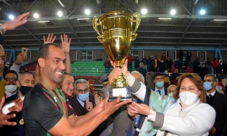 Grâce à cette victoire, les Militaires sont parvenus à remporter leur troisième titre d'affilée, le neuvième au total. Ph : MAP