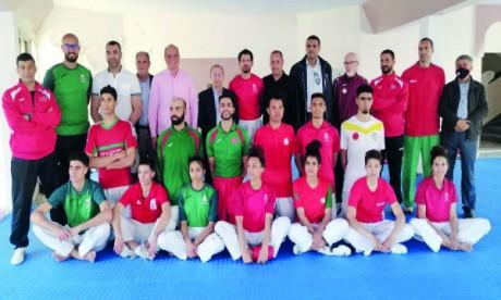 Les taekwondoïstes  marocains en stage à Agadir