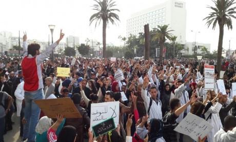 Rabat: Interdiction de manifester pour les enseignants contractuels en raison de la situation sanitaire