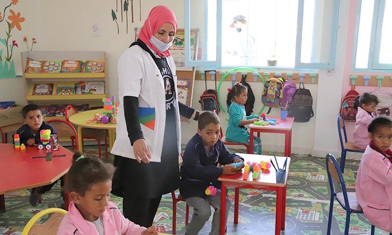 Les nouvelles salles de cours viendront renforcer l'offre de l'enseignement préscolaire en milieu rural. Ph : MAP