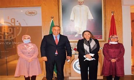 La directrice générale du Centre islamique pour le développement du commerce salue la dynamique de l'Agence Bayt Mal Al-Qods Acharif