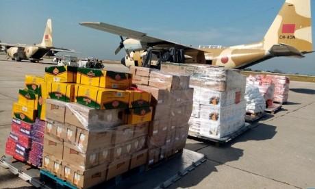 Le second lot des aides marocaines au Liban arrive à Beyrouth