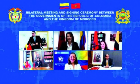 Le Maroc et la Colombie réaffirment la volonté  de S.M. le Roi et du Président Duque de consolider le partenariat bilatéral