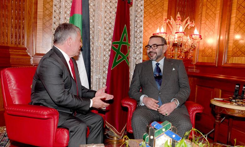S.M. le Roi Mohammed VI réitère Sa solidarité entière et naturelle avec la Jordanie soeur et Son soutien total à toutes les décisions prises par S.M. le Roi Abdallah II