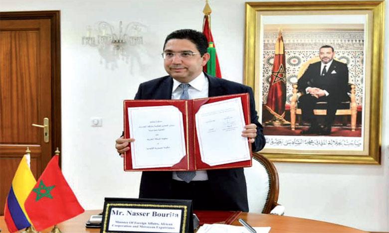 Le Maroc et la Colombie réaffirment la volonté de S.M. le Roi Mohammed VI et du Président Ivan Duque de consolider davantage leur partenariat multidimensionnel