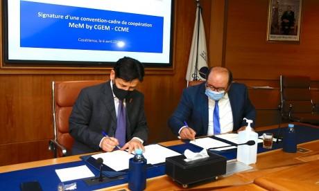 La convention a été signée par Karim Amor, président de MeM by CGEM, et Abdellah Boussouf, secrétaire général du CCME. Ph. DR