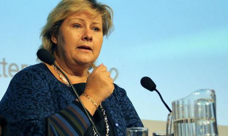La Première ministre norvégienne écope  d'une amende