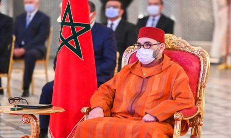 Sa Majesté le Roi Mohammed VI préside au Palais Royal de Fès, la cérémonie de lancement de la mise en oeuvre du projet de généralisation de la protection sociale et de signature des premières conventions y afférentes