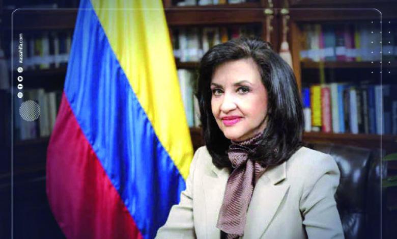 La ministre des Relations extérieures de la République de Colombie, Claudia Blum.