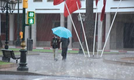 Fortes averses orageuses et rafales de vent mercredi et jeudi dans plusieurs provinces du Royaume