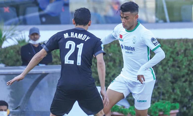La participation de Abdelilah Madkour (en blanc) face au Pyramids FC est incertaine, en raison d'une blessure contractée jeudi lors de la séance d'entraînement.
