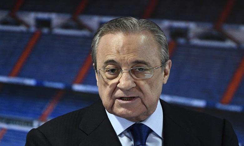 """Foot: le projet de Super Ligue européenne est """"en stand-by"""", annonce Florentino Perez"""