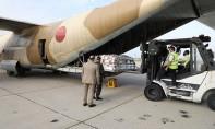 Cette initiative royale a permis d'acheminer, en quatre jours, 90 tonnes de produits alimentaires de base à bord de huit avions militaires. Ph. DR