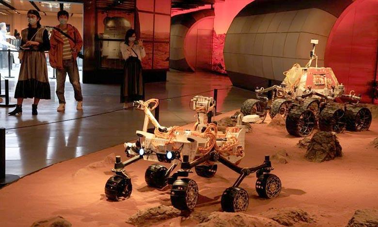 L'atterrisseur Tianwen-1 s'est posé avec succès dans la zone prédéfinie » sur Mars avec à bord le robot «Zhurong». Ph : DR