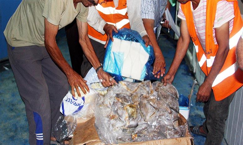 Les visites d'inspection ont permis la saisie et la destruction de 891 Kg de viandes et de poissons, ainsi que de 703 kg de produits alimentaires variés. Ph : MAP-Archives