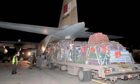 Aide d'urgence aux Palestiniens: Arrivée au Caire de deux avions militaires marocains