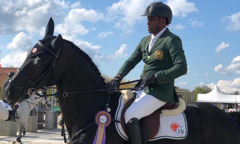 Abdelkebir Ouaddar et son cheval Istanbul VH.