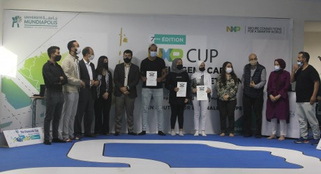 L'Ecole d'Ingénieurs de l'Université Mundiapolis se classe 2e au concours NXP Cup EMEA