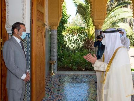 S.A.R. le Prince Moulay Rachid reçoit à Rabat le ministre koweïtien des Affaires étrangères, porteur d'un message de l'Émir de l'État du Koweït à S.M. le Roi Mohammed VI