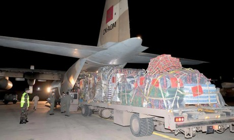 Ramallah: Remise de l'aide humanitaire marocaine à l'Autorité nationale palestinienne