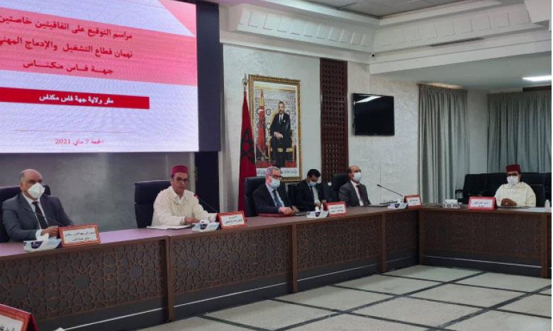 Fès-Meknès : Nouvelle impulsion à la politique de promotion  de l'emploi au niveau régional