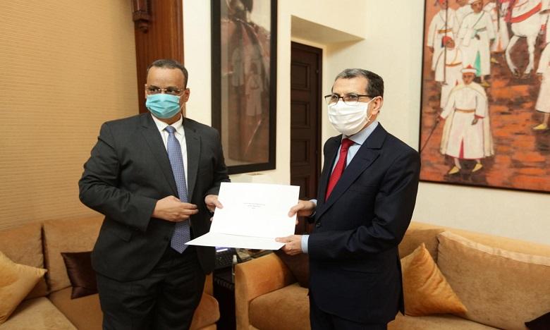 Ould Cheikh Ahmed a affirmé que le Maroc jouit d'une place privilégiée en Mauritanie, qualifiant d'excellentes les relations bilatérales. Ph. MAP