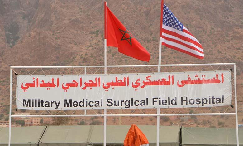 Déploiement d'un hôpital médicochirurgical  de campagne près de Tafraout