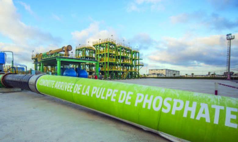 Le Slurry Pipeline, reliant Khouribga à Jorf Lasfar, de transport du phosphate lavé engendrera une économie de près de 3 millions³ de m d'eau par an en pleine capacité de fonctionnement.Ph. DR