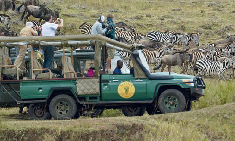 La crise se fait davantage ressentir en Afrique de l'Est et australe où les safaris attirent les touristes venus d'Europe, d'Amérique et d'Asie. Ph. AFP