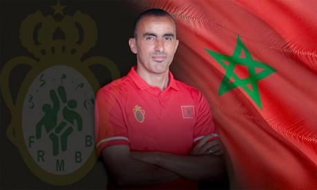 La FRMB a nommé l'entraîneur de l'AS FAR, Labib El Hamrani, nouveau sélectionneur de l'équipe nationale marocaine des séniors.Ph :  frmbb.ma