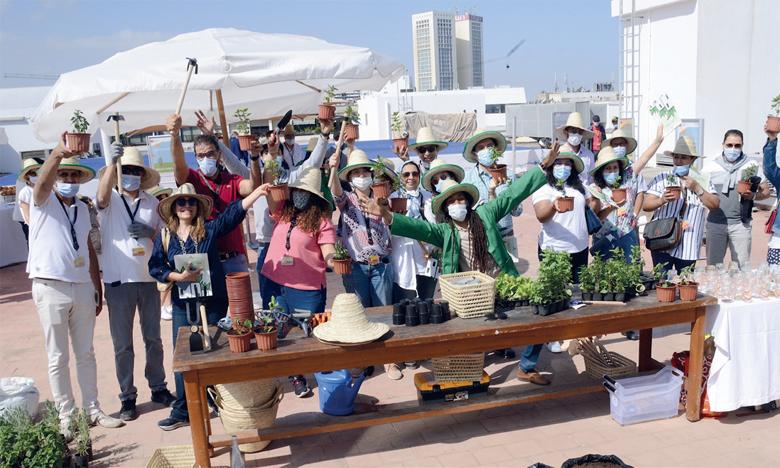 Ces ateliers ont connu la participation de près de 60 collaborateurs d'AWB qui ont pu être initiés aux techniques de végétalisation des toits.