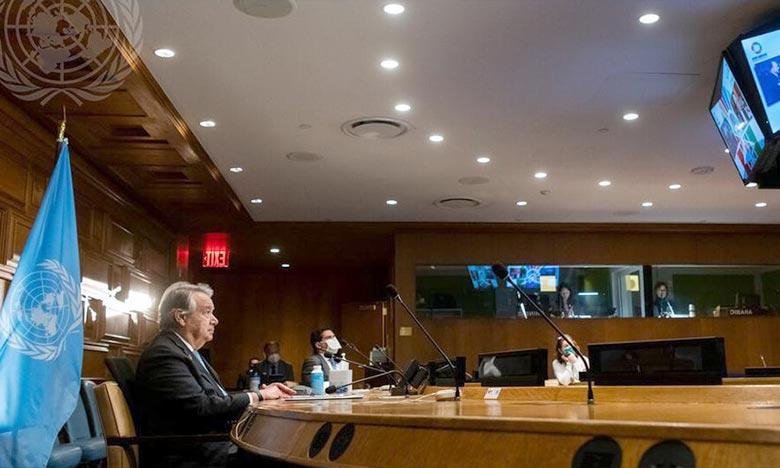 Sans levier majeur face aux grandes puissances qui continuent à se livrer souvent des guerres par procuration, Antonio Guterres s'est investi dans la lutte contre le changement climatique. Ph : ONU