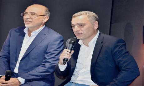 Karim Bernoussi et Youssef El Aoufir, respectivement PDG et DG  du Groupe Intelcia, ont présenté les grandes étapes de développement du Groupe et annoncé  les nouveaux virages envisagés dans les années à venir. Ph. Seddik