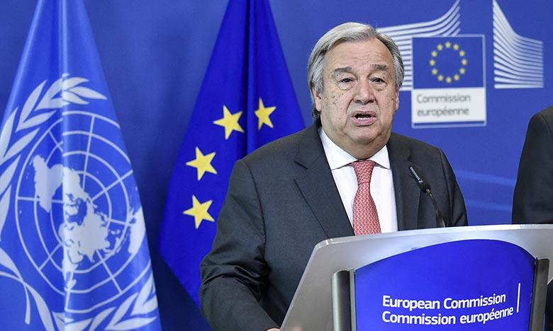 Antonio Guterres prononcera un discours au Parlement européen dans lequel il soulignera l'importance du partenariat entre l'Onu et l'Union européenne. Ph : AFP