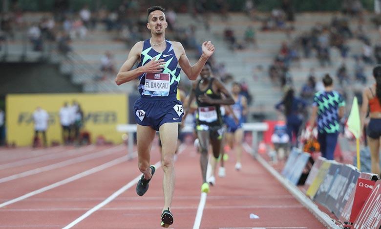 L'athlète marocain a signé un chrono de 08 min 08 sec 54/100e, devant l'Ethiopien Bikila Tadese Takele (08 :10.56). Ph :  AFP