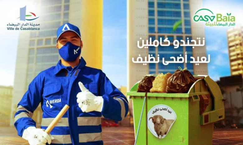 Les Casablancais sensibilisés à la propreté durant la période de la fête