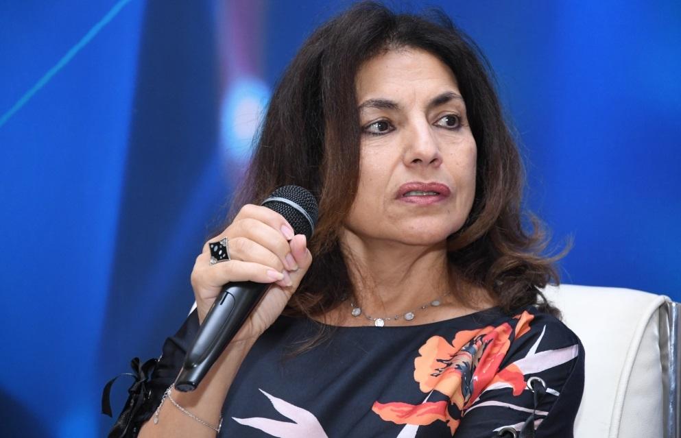 Amal El Amri, secrétaire générale adjointe de l'Union marocaine du travail et secrétaire générale de l'Union syndicale interbancaire