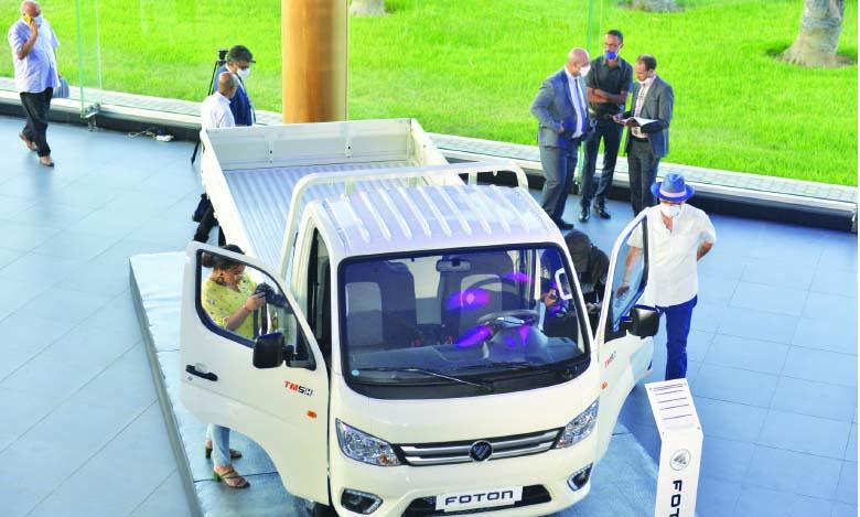 Le nouveau Foton TM est une série de camions propulsés par un moteur diesel de 2.2 litres qui produit 87 ch et 220 Nm de couple.