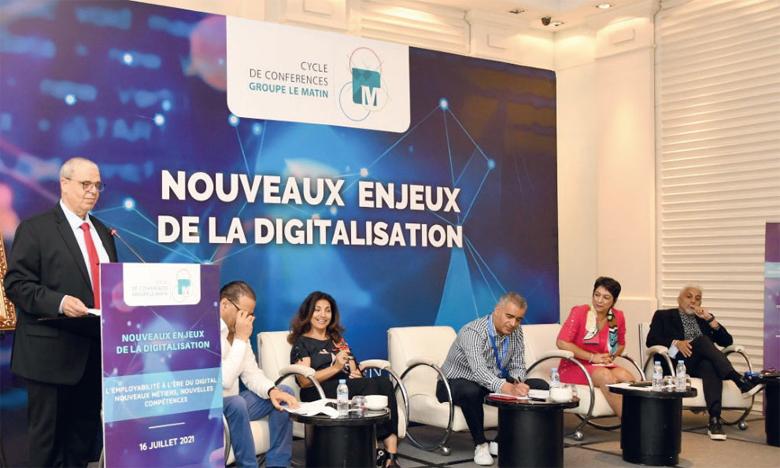 La 4e et dernière Matinale du Cycle de conférences du Groupe Le Matin «Nouveaux enjeux de la digitalisation», organisée sur le thème «L'employabilité à l'ère du digital : nouveaux métiers, nouvelles compétences», a eu lieu vendredi à Casablanca. Ph. Saouri